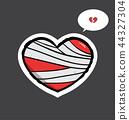 Heart injury with bandage 44327304