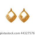 Engraving Earrings Realistic Vector Icon Isolated 44327576