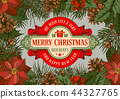 Merry Christmas greeting design 44327765