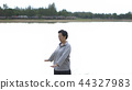 Asian Senior Elderly Qi Gong exercise outdoor 44327983