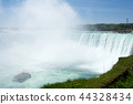 NIAGARA FALLS, ONTARIO, CANADA - MAY 20th 2018: Touristic boat on Horseshoe Falls, also known as 44328434