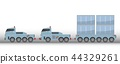 Many Wheel Trailer and Truck for Heavy Weight 44329261