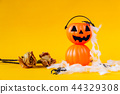 Halloween Jack o Lantern bucket with dried rose  44329308