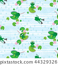 frog vector seamless pattern 44329326
