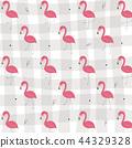 flamingo, pattern, vector 44329328