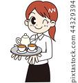 카페 점원 대각선 44329394