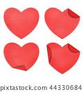 Heart  paper set 44330684