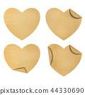Heart  paper set 44330690