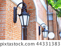 Vintage light lamp on the brick wall 44331383