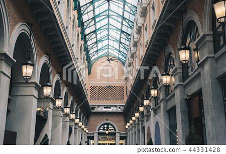 brick vintage building  hall with mirror roof 44331428