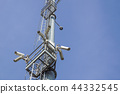 security camera on pole high tower of CCTV system in daytime 44332545