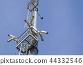 security camera on pole high tower of CCTV system in daytime 44332546
