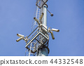 security camera on pole high tower of CCTV system in daytime 44332548