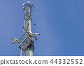 security camera on pole high tower of CCTV system in daytime 44332552