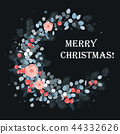 Merry Christmas card design. New Year decoration 44332626