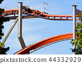 Rollercoaster against blue sky in the evening 44332929