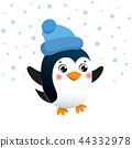 christmas, penguin, design 44332978