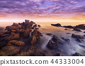 Long exposure of seascape, Sunset in Thailand 44333004