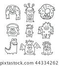 monster doodle cartoon 44334262