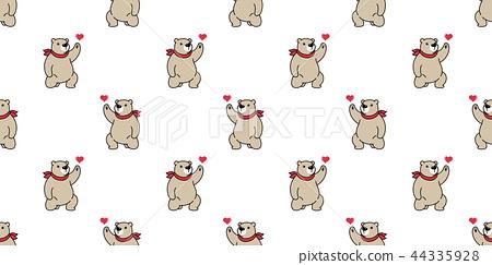 bear seamless pattern polar bear vector valentine  44335928