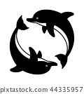 dolphin vector icon logo fish cartoon character 44335957
