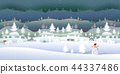 Frozen forest with beautiful winter landscape. 44337486