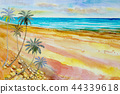 Seascape colorful of beauty beach wave in summery. 44339618