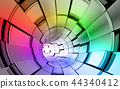 Rainbow colors technology background 44340412