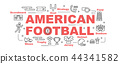 american football vector banner 44341582