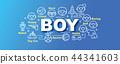 boy vector trendy banner 44341603