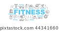 fitness vector banner 44341660
