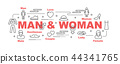 man and woman vector banner 44341765
