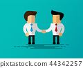 cartoon businessman shake hands 44342257