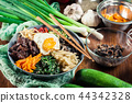 Bibimbap - rice with beef and vegetables 44342328