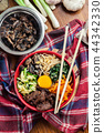 Bibimbap - rice with beef and vegetables 44342330