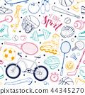 bicycle, sport, pattern 44345270