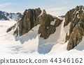 Mountain rock with snow covered 44346162