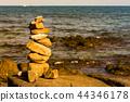 Stack rock on sea coast 44346178