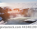 Godafoss waterfall natural winter season 44346199