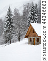 winter, chalet, house 44346683