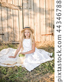 child, dress, flower 44346788