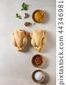 Raw uncooked chicken 44346981