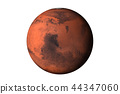 Planet Mars dark side Isolated 44347060