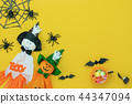 Table top view decoration Happy Halloween day. 44347094