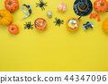 Table top view decoration Happy Halloween day. 44347096