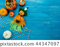 Table top view decoration Happy Halloween day. 44347097