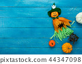 Table top view decoration Happy Halloween day. 44347098
