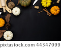 Table top view Thanksgiving day background. 44347099