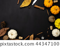 Table top view Thanksgiving day background. 44347100