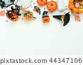 Table top view decoration Happy Halloween day. 44347106